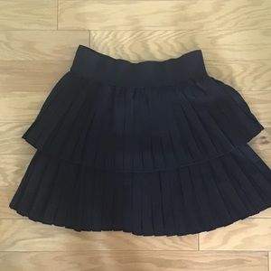 Unworn Zara Black Pleated Swing Mini Skirt XS